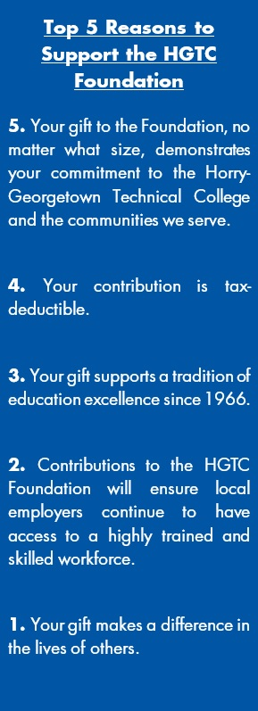 top five reasons to support the HGTC foundation