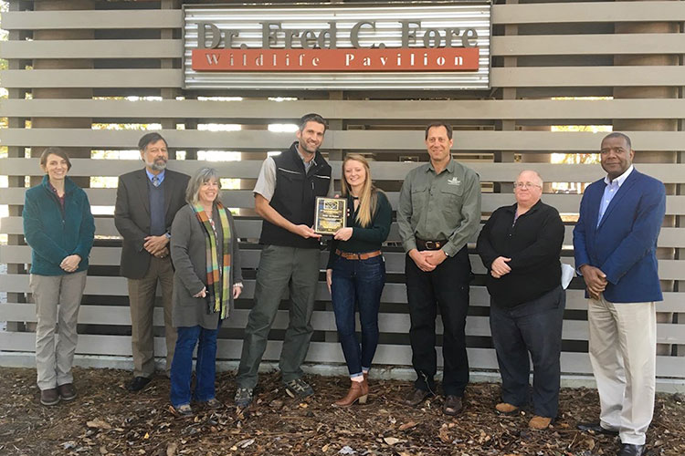 Paige McMahan, Forestry Professors, and Award