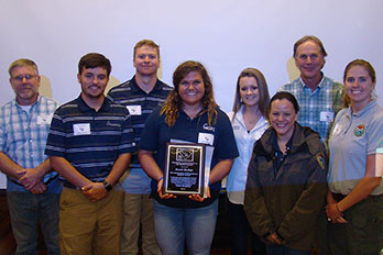 HGTC Forestry Student Wins Statewide Award