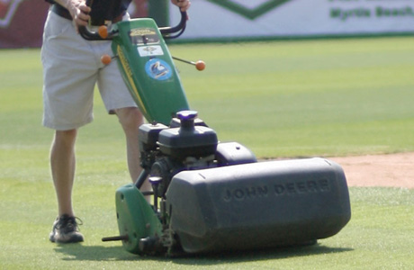 a turf specialist maintains a golf course