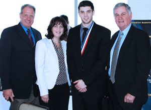 Eric Kalkbrenner represented HGTC. Eric was joined by his parents and President Neyle Wilson.
